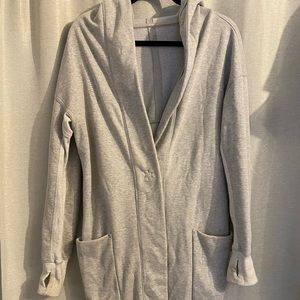 Used grey lululemon long sweatshirt